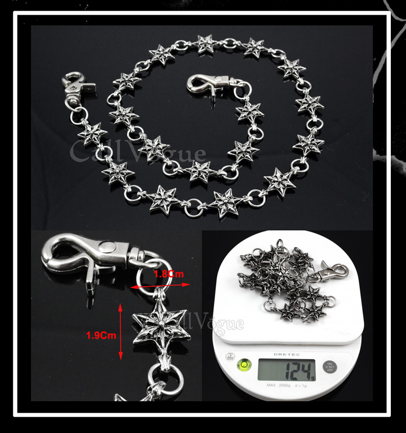 Chain wallet star shape linked chains for men women ST01 DE