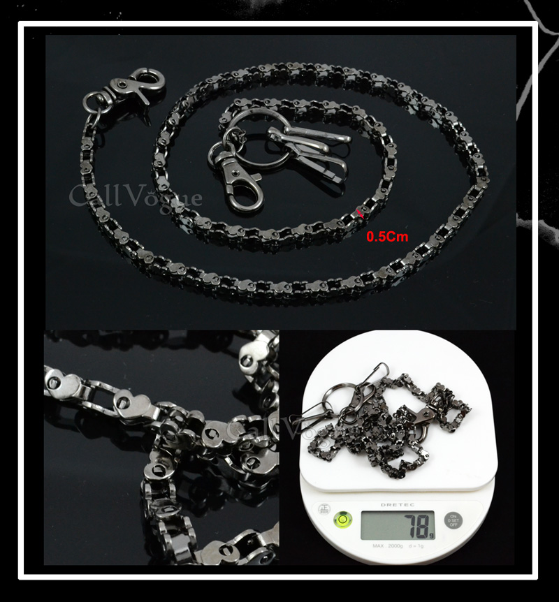 Wallet chain for Men women CH15B Slim heart shape Motorcycle Bike Chain linked Wallet chains DE