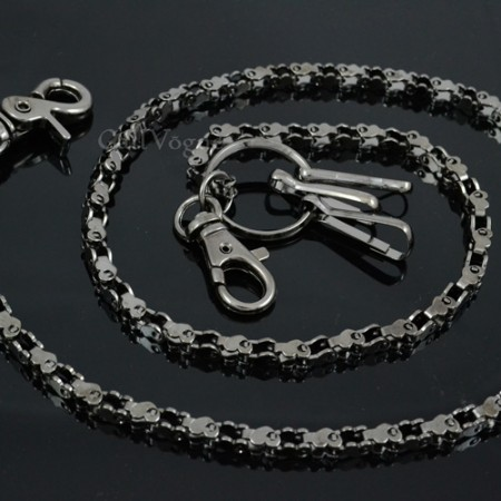 Wallet chain for Men women CH15B Slim heart shape Motorcycle Bike Chain linked Wallet chains M
