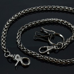 Wallet chains for Men women CH04B Basic ROPE Black metal WALLET CHAIN M