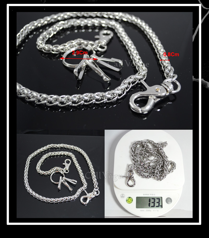 curb cuban Wallet chains for Men women Basic ROPE WALLET CHAIN