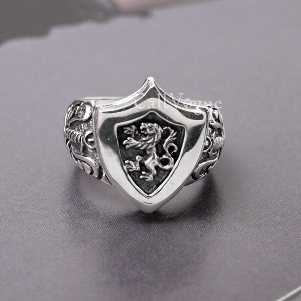 silver custom freemason masonic crusader signet jewelry ring gold templar knights knight seal rings shield handmade and