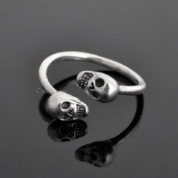 sterling silver Rings for women BMR39 Both Skull 925 sterling silver ring M3