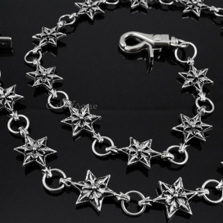 Chain wallet star shape linked chains for men women ST01 M