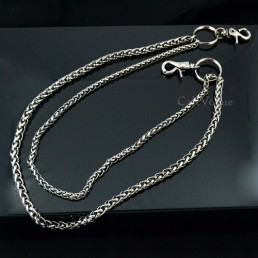 Wallet chains for Men women CH042B Basic ROPE Black double metal WALLET CHAIN M