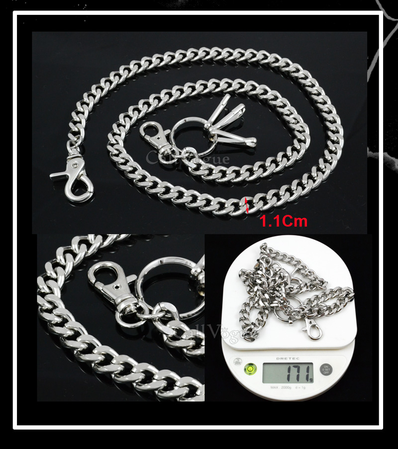 Cut Leash Wallet Chain CH07S THIN metal cuban curb Wallet Chains DE