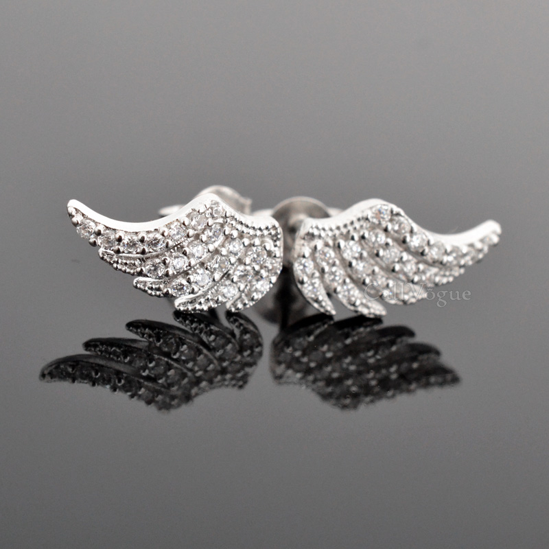 Feather earrings Angel wing earrings for women De wear