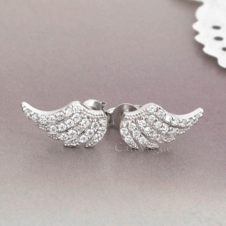 Feather earrings Angel wing earrings for women M