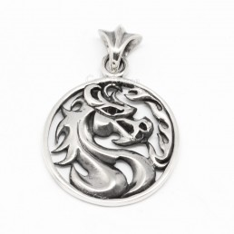 Sterling silver charms Pendant STERLING SILVER horse PENDANT