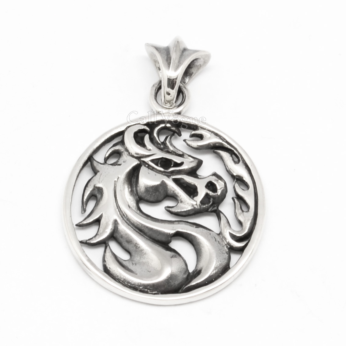 Wild horse pendant 925 sterling silver medal callvogue wild horse pendant 925 sterling silver medal aloadofball Gallery