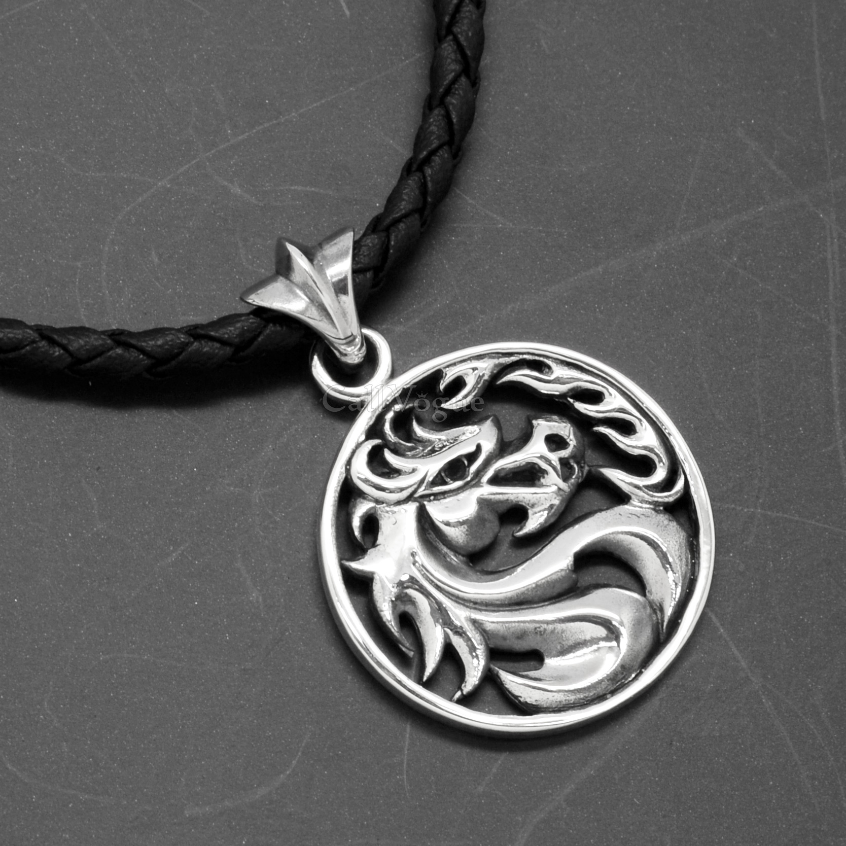 Wild horse pendant 925 sterling silver medal callvogue wild horse pendant 925 sterling silver medal mozeypictures Image collections