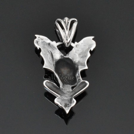 Sterling silver charms Pendant 925P-SkBat Skull bat 925 Silver necklaces charm M2