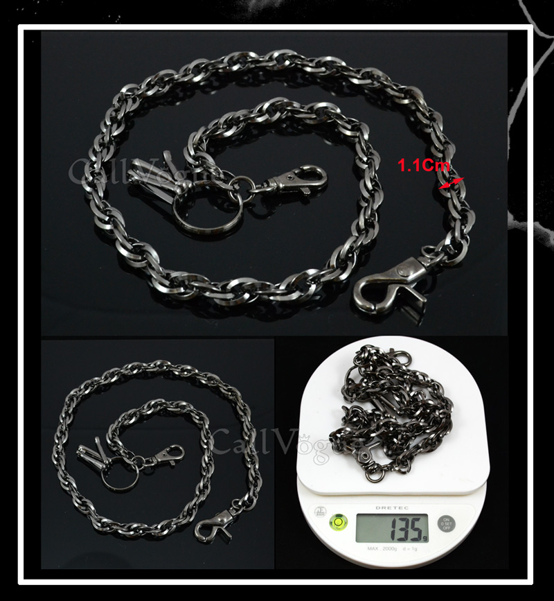 Wallet chain CH09B Double Link Chain Rope style wallet chains De