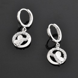 butterfly earrings 925 sterling silver earrings for women M1