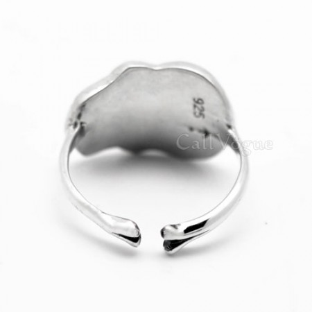 Skull ring one love skull 925 sterling silver rings M
