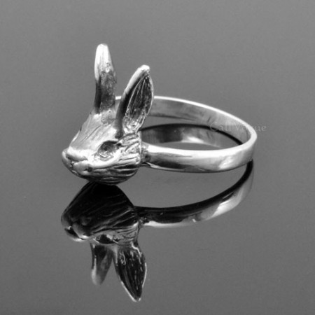 sterling silver Rings for women BMR-Rab Cute rabbit 925 sterling silver ring M1