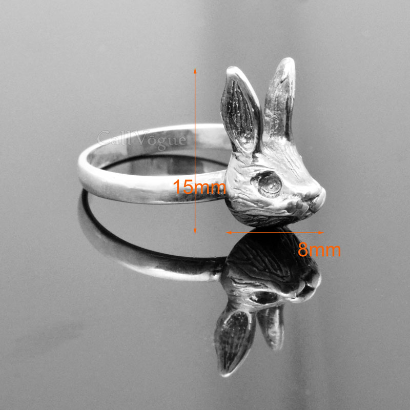 sterling silver Rings for women BMR-Rab Cute rabbit 925 sterling silver ring de