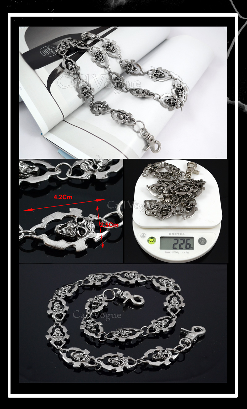Skull wallet chain CHSK03 BORDER BOTH SIDES Creepy Skull Wallet chains DE