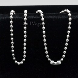 925 sterling silver ball chain necklaces