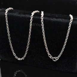 Silver chains Multi Ring links 925 sterling silver chain Necklace