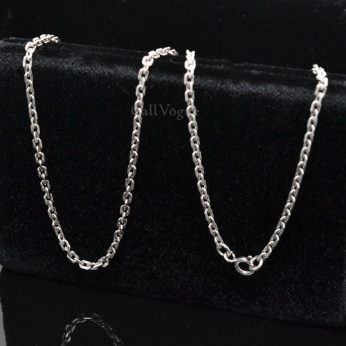 itm italy silver italian sterling pure rope chain necklace shiny wholesale jewellery o