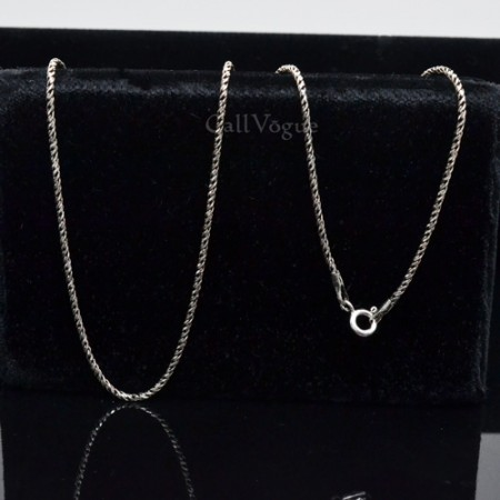 Sterling Silver chains NSCH_Rope Rope shape 925 sterling silver chain Necklace M1