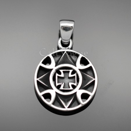 CROSS Sterling silver charms pendant 925P-BlCro Blooming Cross 925 sterling silver pendant charms necklace M