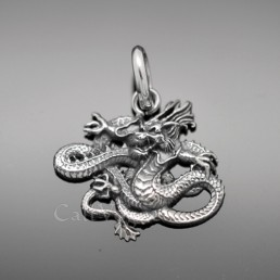 Sterling silver charms Pendant 925P-JPDR Japanese Dragon 925 Silver necklaces charm M