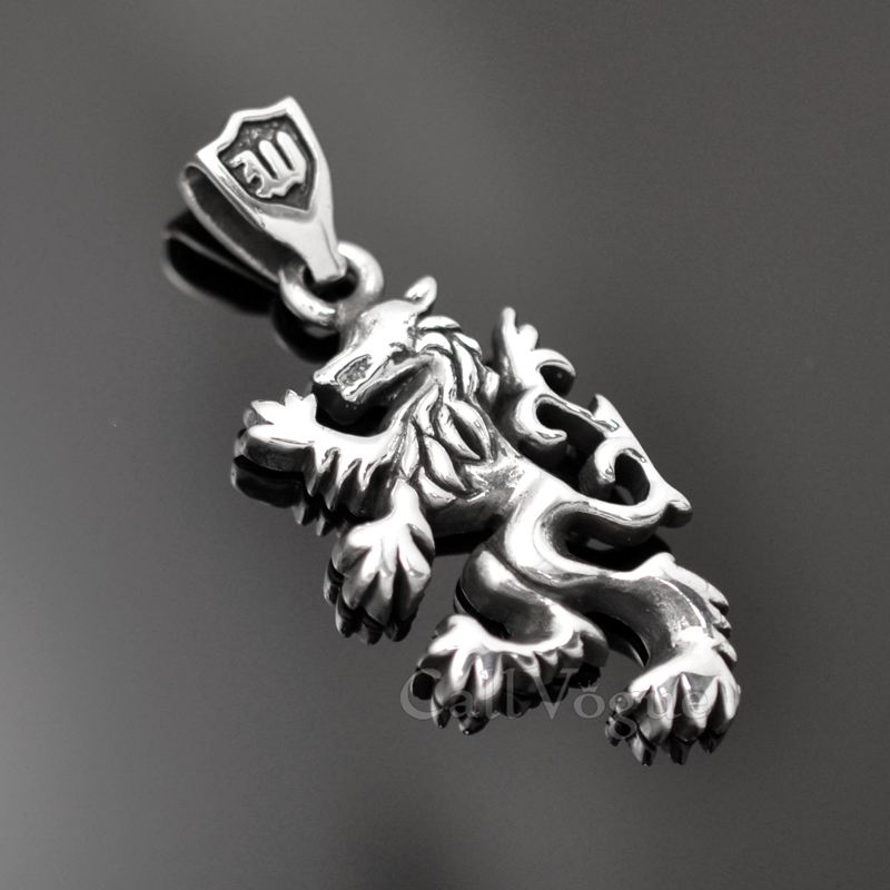 Wolf pendant necklace sterling silver callvogue sterling silver charms pendant 925p wolf wolf 925 sterling silver pendant charms necklace m aloadofball