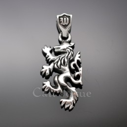 Sterling silver charms pendant 925P-Wolf Wolf 925 sterling silver pendant charms necklace M