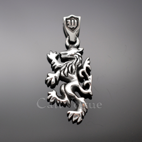 Wolf pendant necklace sterling silver callvogue wolf pendant necklace sterling silver mozeypictures Choice Image