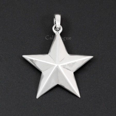 Sterling silver charms Pendant 925P-STAR STAR 925 Silver necklaces charm