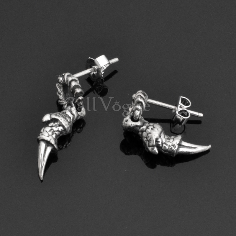 claw Talon mens earrings Claw Talon 925 sterling silver mens stud earrings