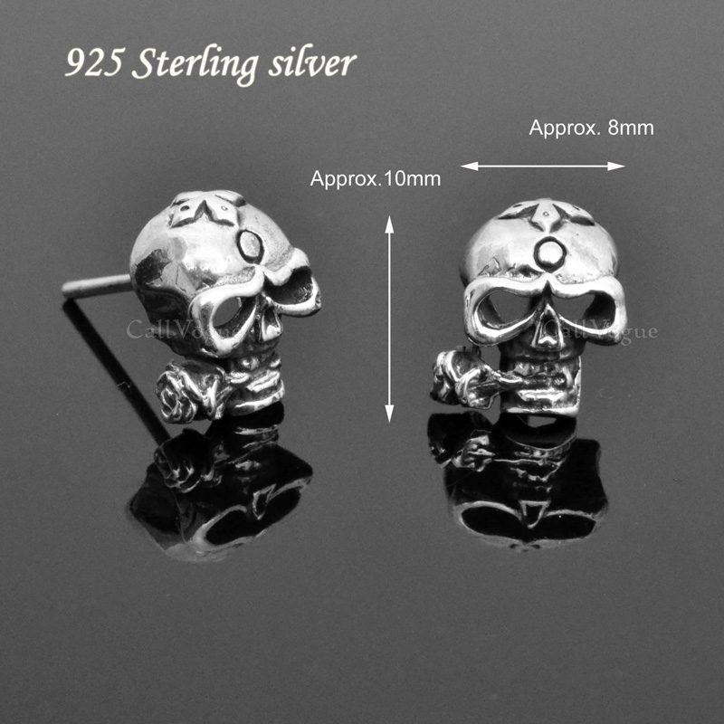 earrings crystal sterling silver claire s stud skull