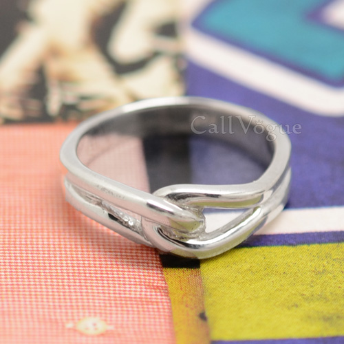 Soft curves 925 sterling silver rings Callvogue