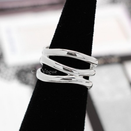 basic sterling silver rings for women Multi lines 925 sterling silver ring