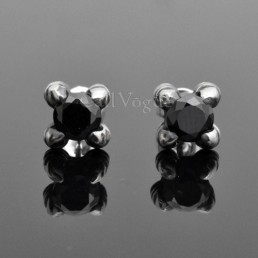 zirconia claw mens earrings Black zirconia Claw Talon 925 sterling silver earrings
