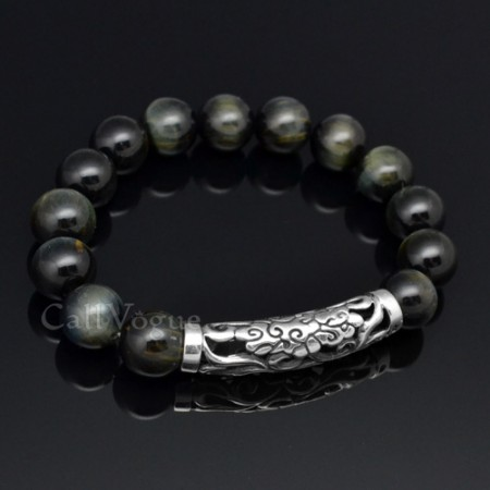 Beaded bracelets blue tigers eye bracelet Cloud 925 sterling silver Bracelets