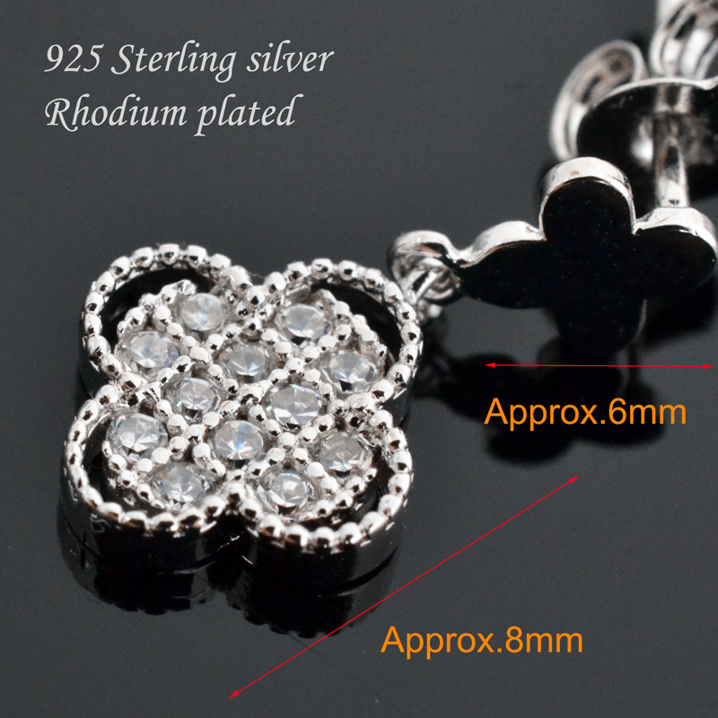 Double flower earrings 925 sterling silver earrings for women