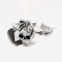 Skull rings Skull Girl 925 sterling silver rings
