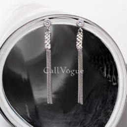 chain drop earrings for women sterling silver chain earring
