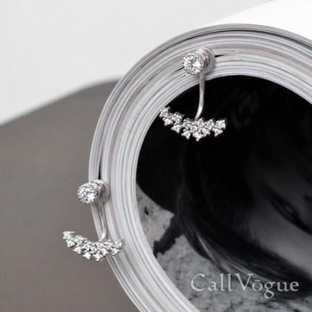 two way earrings for womens The milky way galaxy 925 sterling silver earring