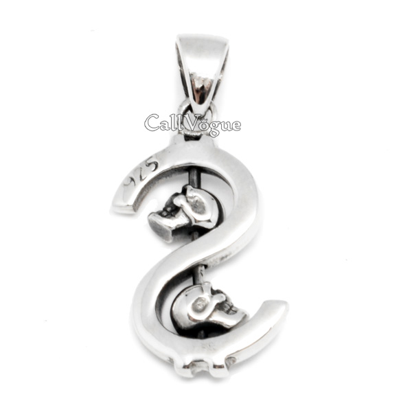Sterling silver dollar sign skull pendant callvogue sterling silver dollar sign skull pendant mozeypictures Choice Image