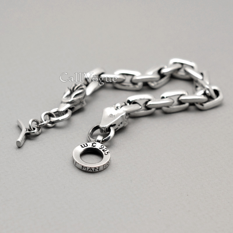 Mens 925 sterling silver dragon bracelet - Callvogue