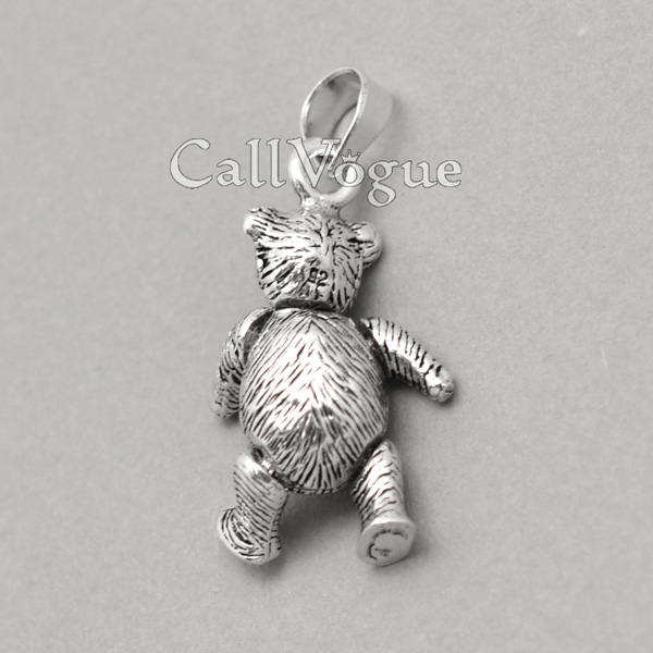 Movable 925 silver bear pendant callvogue sterling silver charms movable bear pendant 925 silver necklaces charm aloadofball Images