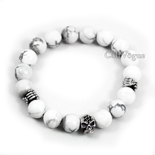 beaded and products men ceramic green mens silver jewelry s bracelet white with beads clariste bead