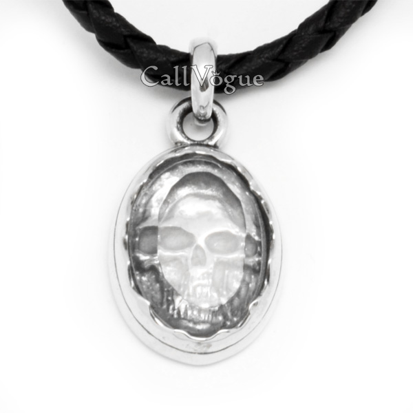 Sterling Silver Skull Pendants Mens sterling silver skull pendant in crystal callvogue unique jewelry crystal skull pendant sterling silver charms for mens necklaces audiocablefo