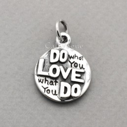 925 Sterling silver pendants love pendant heart reversible pendants for women
