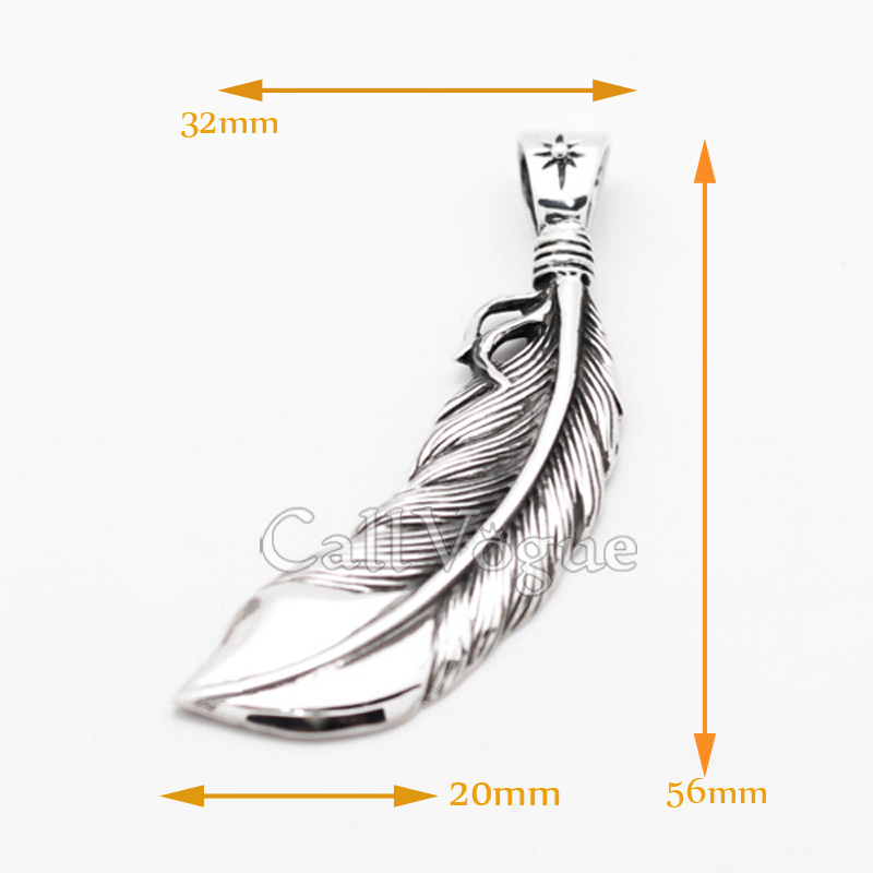 feather necklace 925 sterling silver feather pendant feather charm
