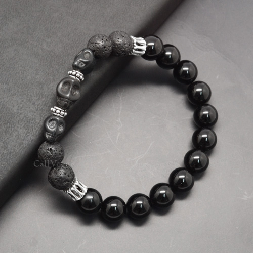 Excellent Beaded Bracelets designed by Three skulls & Silver Skeleton  VC88